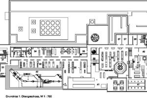 Grundriss 1.Obergeschoss, M 1:750
