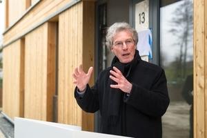 Uli Hellweg, Geschäftsführer der IBA Hamburg, bei der Eröffnung des CSH in Wilhelmsburg Mitte