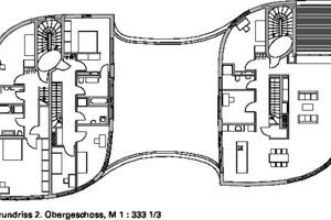 Grundriss 2. Obergeschoss, M 1:333<sup>1</sup>/3