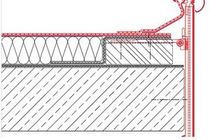 Mehrteiliges Dachrandprofil mit 4-dimensionaler Halterung und einem runden Deckprofil