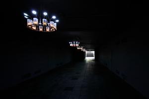 """""""3 V"""" von Aram Bartholl in der Unterführung am Schlossplatz, Verbindung zum Hörsaal 1 etc."""
