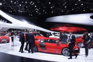 Audi ganz klassisch auf der IAA Frankfurt: Modellpräsentation