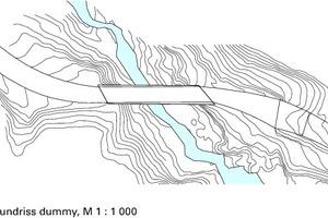 Grundriss der neu geplanten Kohlhaldenbrücke, M 1:1000
