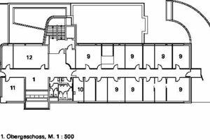1. Obergeschoss, M 1:500