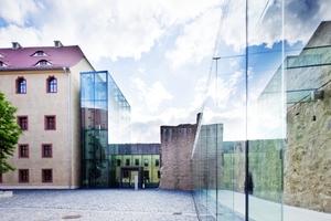 Eine wesentliche Anforderung an die Ergänzungsbauten des Schloss Grimma war eine maximale Transparenz
