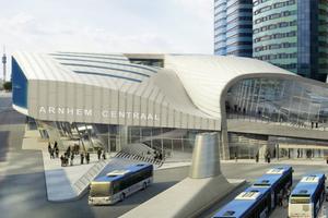 Bahnsteigüberdachung und Fußgängerbrücke, Zentralstation Arnheim - UNStudio, Amsterdam