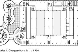 Grundriss 1. OG, M 1:1750