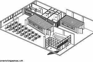 Isometrie Erdgeschoss, o.M.