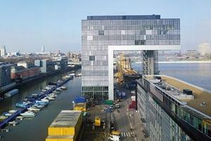 Die Umstrukturierung ist das größte der Innenstadt zugeordnete Stadtentwicklungsvorhaben in Köln. Im Vordergrund eines der drei Kranhäuser, die ebenso wie der Kölner Dom das Stadtbild Kölns prägen werden
