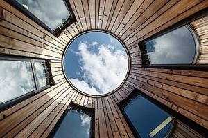 Nominiert: Kinderhaus Haidgraben. Geplant von Venus Architekten (München), Ausgeführt von Anton Ambros GmbH (Hopferau), Binder & Sohn GmbH (Ingolstadt)