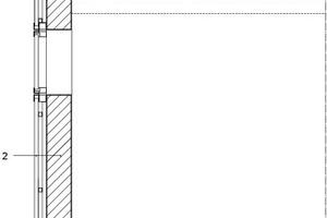 Fassadenschnitt, M 1 : 50