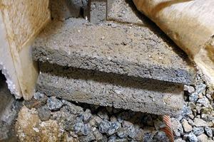 Abb.8: Fußpunkt der Wand-Dränschicht – Variante1