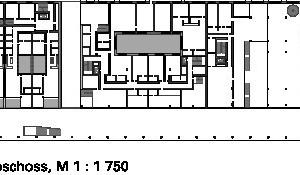 Grundriss 1. Obergeschoss, M 1:1750