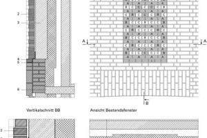 Detail Ausmauerung Bestandsöffnung Turm 21, M 1:33<sup>1</sup>/3