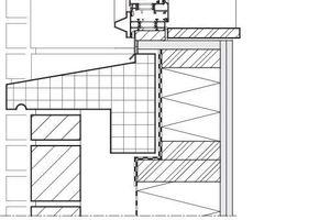 Fassadenschnitt Detail, M 1:10
