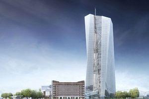 Entwurf der Europäischen Zentralbank in Frankfurt am Main (Coop Himmelb(l)au, Wien)