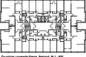Grundriss ungerade Ebene Bestand, M 1:400