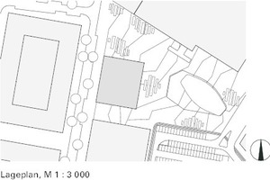 Lageplan, M 1:3000