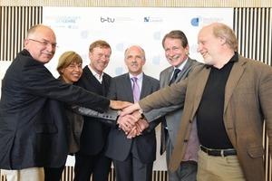 Pakt geschlossen: Das Direktorium des David-Gilly-Instutes (DGI)<br />
