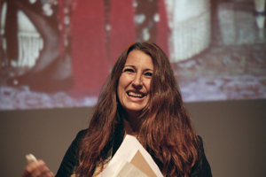 Architektin mit Leidenschaft: Benedetta Tagliabue (ebenfalls glänzend gelaunt)