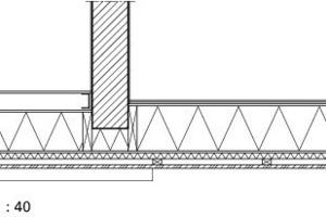 Detail Fassadenanschluss M 1:40<br />