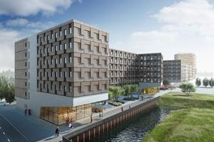 """Studentenwohnheim """"Woodie"""" in Hamburg von Sauerbruch Hutton Architekten"""