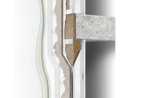Außenwandkonstruktion als eingestellte Montage mit Einfachständerwerk und Wärmedämm-Verbundsystem<br />