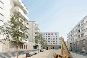 Abb. 8: Wohnquartier in Stuttgart Bad Cannstatt, Architekten: Ackermann + Raff, Stuttgart Bauherr: Siedlungswerk GmbH, Stuttgart