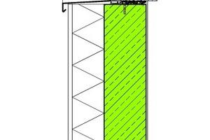 Abb. 1: Außenwand aus Betonfertigteilen mit Wärmedämmverbundsystem (WDVS)