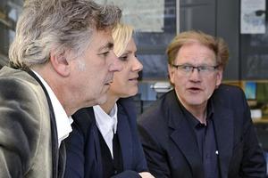 Im Gespräch: Matthias Burkart, Sandra Greiser, Burkhard Fröhlich