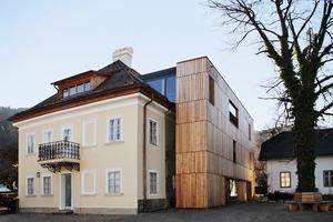 """Das alte Mansarddach im Mozarthaus St. Gilgen wurde entsprechend der ursprünglichen Form mit einem Walmdach """"überkront"""""""