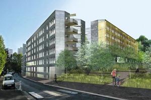 Roméo et Juliette, 74 Wohnungen, Clermont Ferrand/F, Fertigstellung 2012<br />