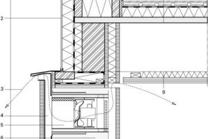 Detail 3, Lüftungsflügel Atrium, M 1:12,5<br />