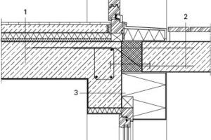 Detail Balkonanschluss, M 1:20