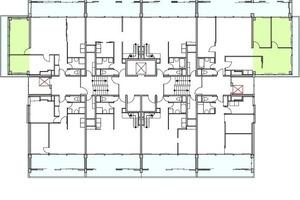 Grundriss Maisonette neu, M 1:400