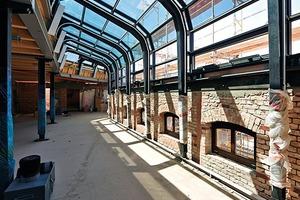 Während des Umbaus des Fabrikhauses