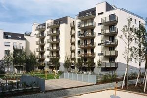 Wohnanlage mit Spielplatz – vom Stadtplanungs- und Architekturbüro AS&P, Frankfurt