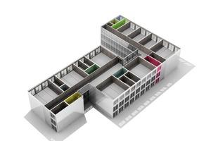 """<div class=""""9.6 Bildunterschrift"""">Das modulare Konzept folgte dem NKBAK-Prinzip der konstruktiv logischen Schaffung von angemessenen Räumen</div>"""