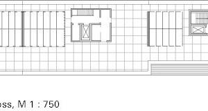 Grundriss Dachgeschoss, M 1:750