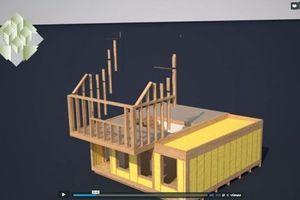 Die Konstruktion ist dabei aus Holz