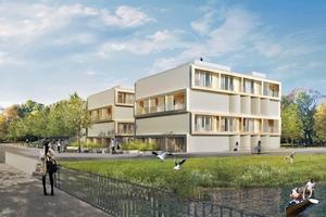 Eins der Hybridhäuser