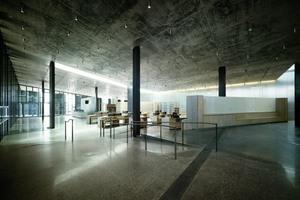 Mit Glaswänden, Basaltsäulen und hochmodernem Interieur ist das Gebäude innovativ. Das energieeffiziente Zentrum beherbergt mehrere Ausstellungsräume