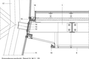 """<div class=""""10.6 Bildunterschrift"""">Fassadenausschnitt, Detail 9, M 1:25</div>"""