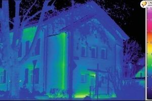 Außenthermographie auf die südliche Fassadenkante des Gebäudes<br />