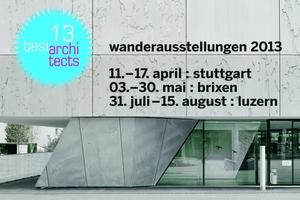 """Wanderausstellung """"best architects"""" 2013"""