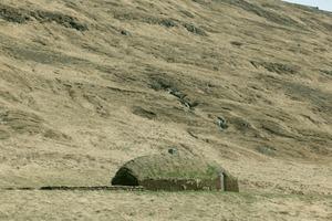 Eiríksstadir, Rekonstruktion eines Langhauses (skáli) aus dem 10. Jahrhundert. Haukadalur, Westisland