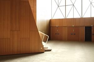 Schleuse zwischen Foyer und Theaterraum