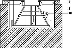 Detail Stützenfuß, M 1:33<sup> </sup><sup>1</sup>/3