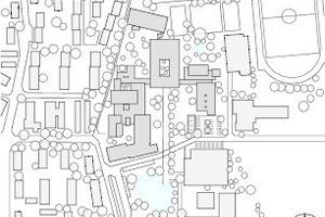 Lageplan, M 1:7500