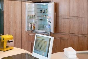 Über den Monitor kann das zentrale Managementsystem bedient werden<br />